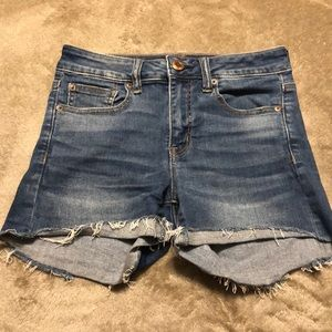 American Eagle jean stretch shorts
